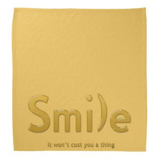 Yellow  Smile Ascii Text Bandana