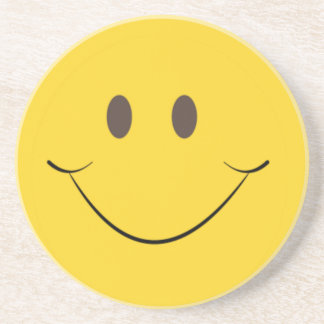 Yellow Smile Drink Coaster