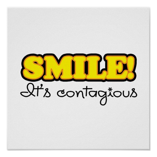 Yellow Smile Quote Poster