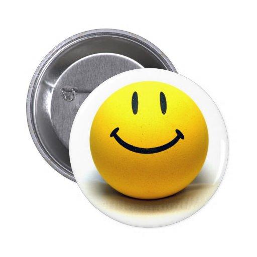 Yellow Smiley Ball Globe Smile Love Happiness Joy Button