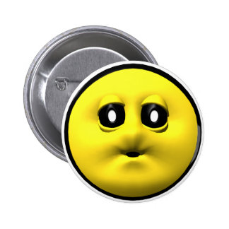 Yellow smiley blowing a kiss button