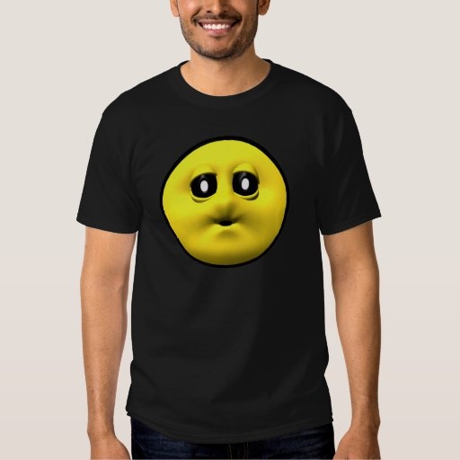 Yellow smiley blowing a kiss tee shirt