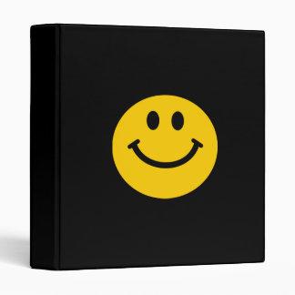 Yellow Smiley Face 3 Ring Binder