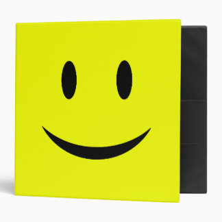 Yellow Smiley Face Binder