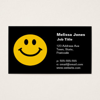 Yellow Smiley Face Business Card