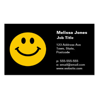 Yellow Smiley Face Business Cards