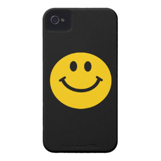 Yellow Smiley Face iPhone 4 Case-Mate Cases