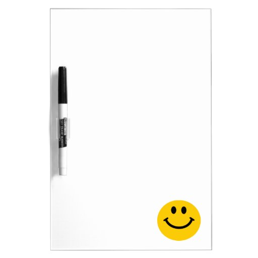 Yellow Smiley Face Dry Erase Boards