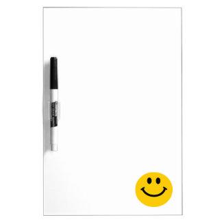 Yellow Smiley Face Dry-Erase Whiteboard