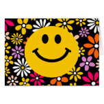 Yellow Smiley Face Greeting Cards
