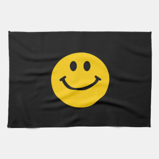 Yellow Smiley Face Hand Towel