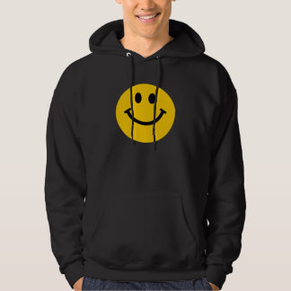 Yellow Smiley Face Hooded Sweatshirt