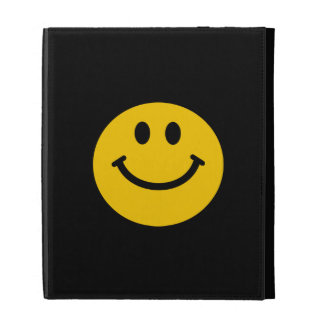 Yellow Smiley Face iPad Folio Cover