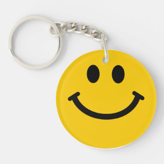 Yellow Smiley Face Keychain