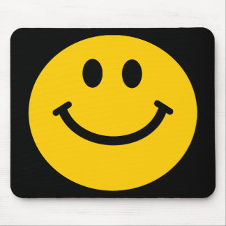 Yellow Smiley Face Mousepads