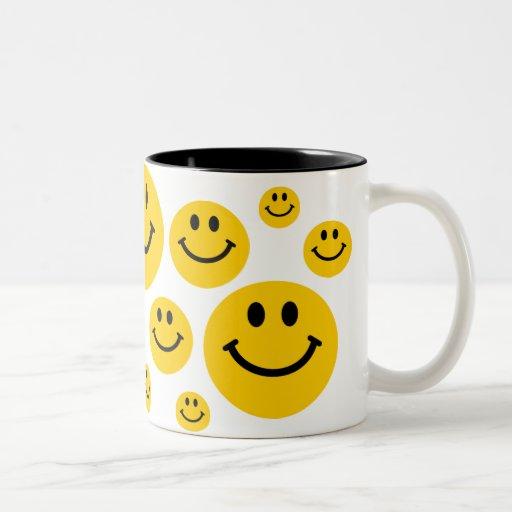 Yellow Smiley Face Coffee Mugs