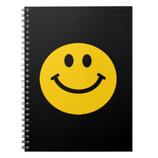 yellow smiley face notebook