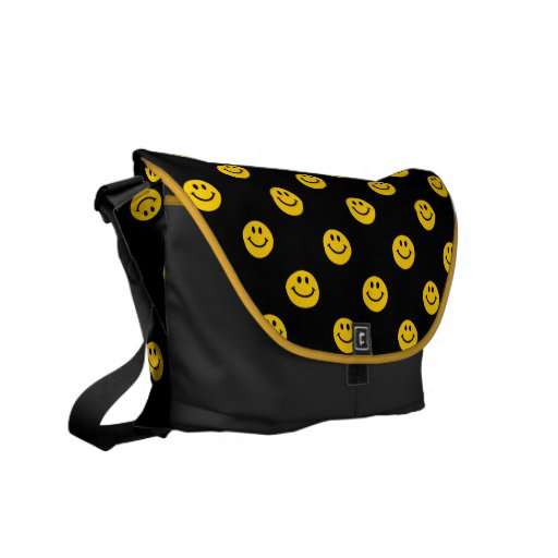 Yellow Smiley Face Pattern Bag Messenger Bags