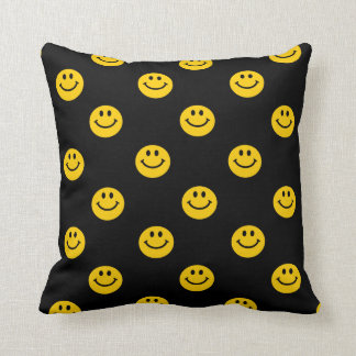Yellow Smiley Face pattern cushion Throw Pillow