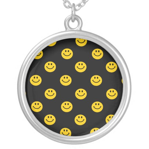 Yellow Smiley Face Pattern Jewelry