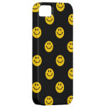 Yellow Smiley Face Pattern on Black iPhone 5 Cover