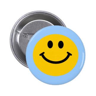 Yellow Smiley Face Pinback Button