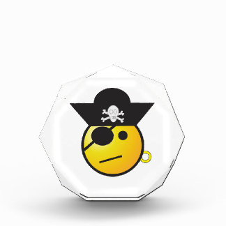 Yellow Smiley Face Pirate w/ Hat, Earring, & Patch Awards