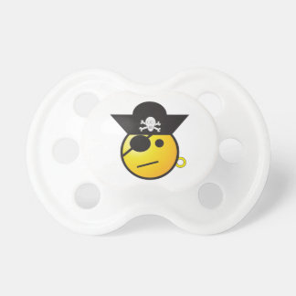 Yellow Smiley Face Pirate w/ Hat, Earring, & Patch BooginHead Pacifier