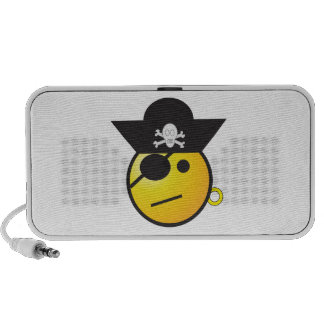 Yellow Smiley Face Pirate w/ Hat, Earring, & Patch iPod Speakers