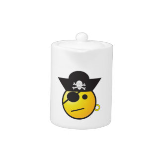 Yellow Smiley Face Pirate w/ Hat, Earring, & Patch