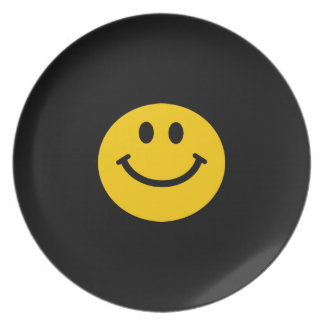 Yellow Smiley Face Dinner Plates