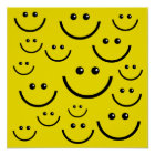 Yellow Smiley Face Poster