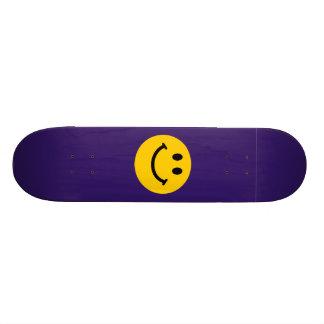 Yellow Smiley Face Custom Skate Board