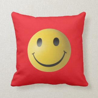 Yellow Smiley Face Throw Pillow