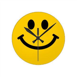 Yellow Smiley Face Wall Clock