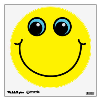 Yellow Smiley Face Wall Decal