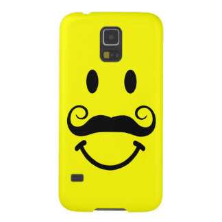 Yellow Smiley Face with Mustache Galaxy S5 Case