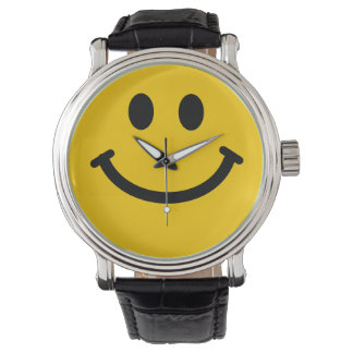 Yellow Smiley Face Wrist Watch