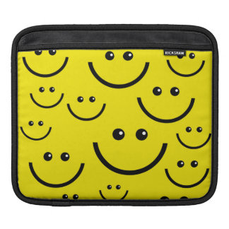 Yellow smiley faces iPad sleeve