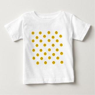 Yellow Smiley Polka Dot Pattern Baby T-Shirt