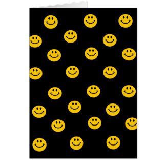 Yellow Smiley Polka Dot Pattern Cards