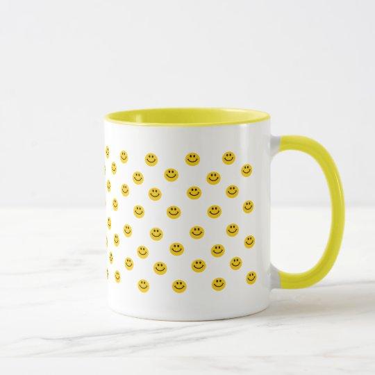 Yellow Smiley Polka Dot Pattern Mug