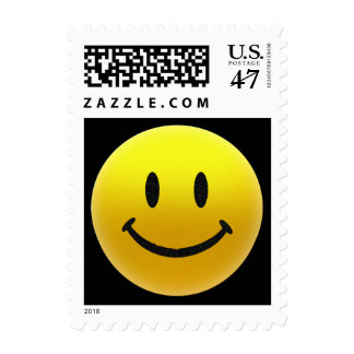 Yellow Smiley Postage Stamp