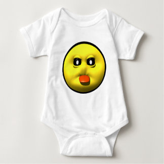 Yellow smiley sticking out tounge baby bodysuit