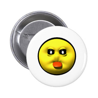 Yellow smiley sticking out tounge pinback button