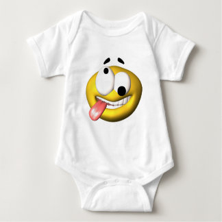 Yellow smiley that went nuts baby bodysuit