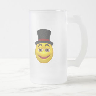 Yellow smiley wearing a top hat mug
