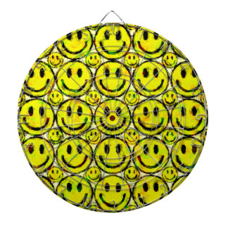 YELLOW SMILEYS DARTBOARD