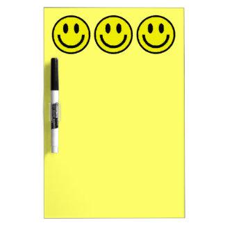 YELLOW SMILEYS Dry-Erase WHITEBOARDS