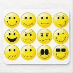 Yellow smileys mouse pad